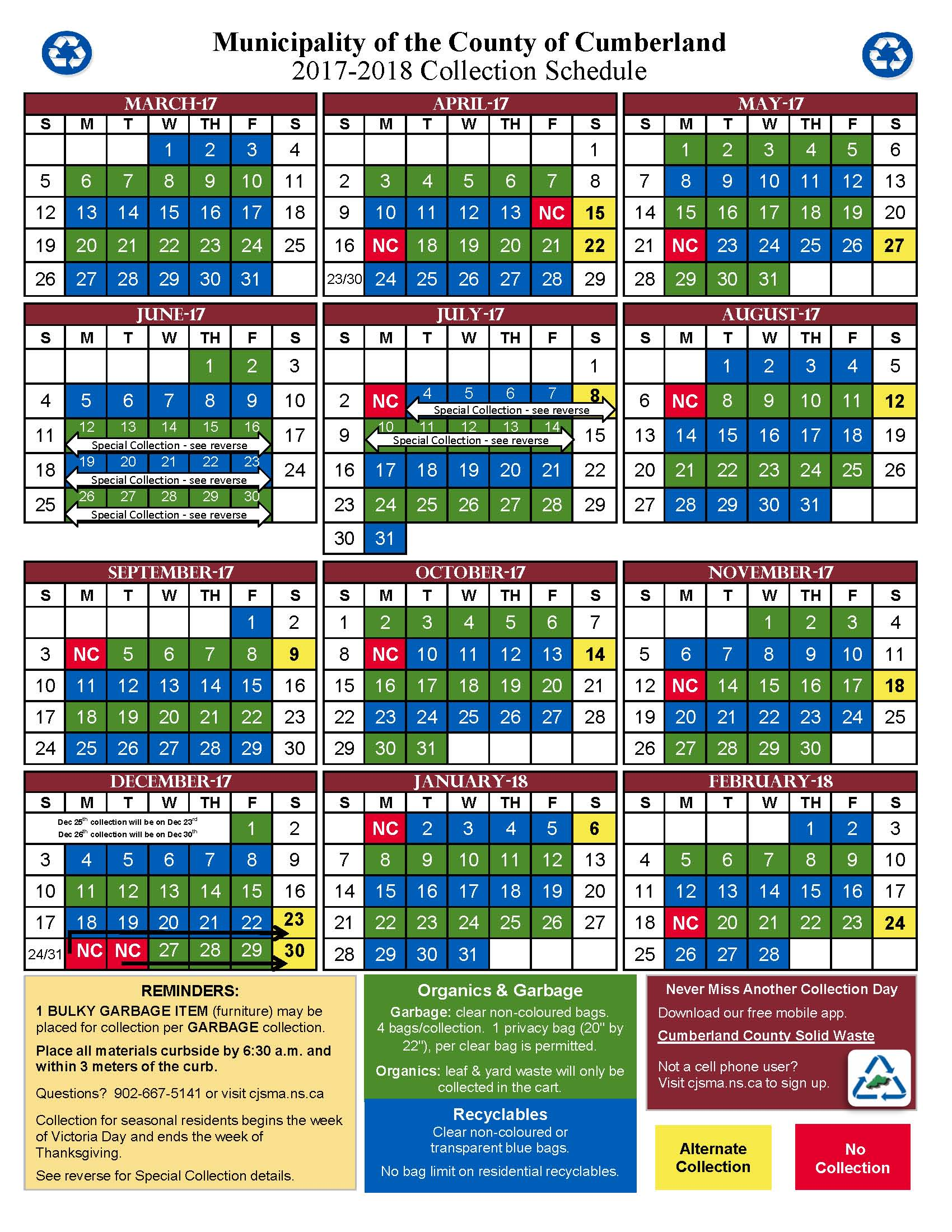 County Calendar 2017 2018 Page 1