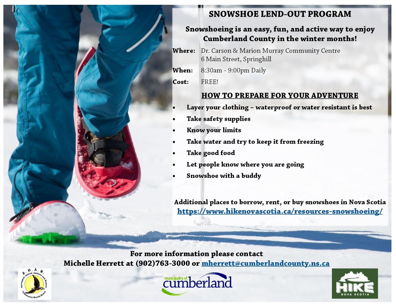 Snowshoe Lend Out Program
